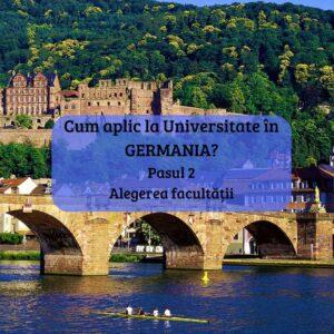 Cum aplic la universitate în Germania? Pasul 2. Alegerea facultății