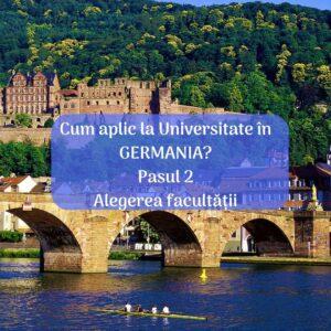 alegerea facultății în germania