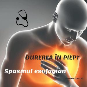 SPASM ESOFAGIAN - cauza pentru durere în piept
