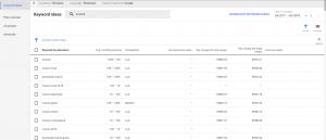 google ads keyword planner search