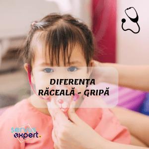 Diferența între RĂCEALĂ și GRIPĂ. Simptome la copii și adulți