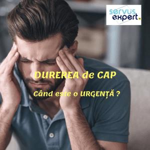 DURERE de CAP: când este urgență?