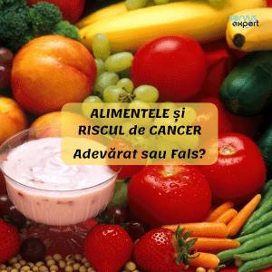 RISCUL de CANCER și ALIMENTELE. Adevărat sau fals?