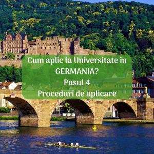 Cum aplic la universitate în Germania? Pasul 4. Proceduri de aplicare