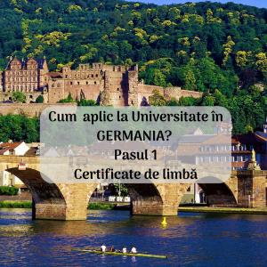 Cum aplic la universitate în Germania? Pasul 1. Certificate de limbă