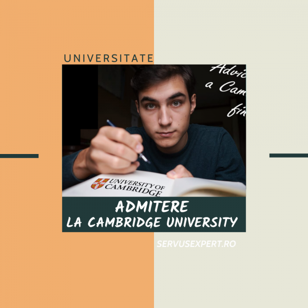 admitere la Cambridge University