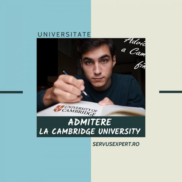 Interviu de admitere la Universitatea Cambridge