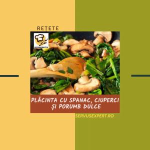 Plăcinta cu spanac și ciuperci: rețetă simplă vegetariană