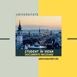 Student la Viena: documente necesare- Etapa II