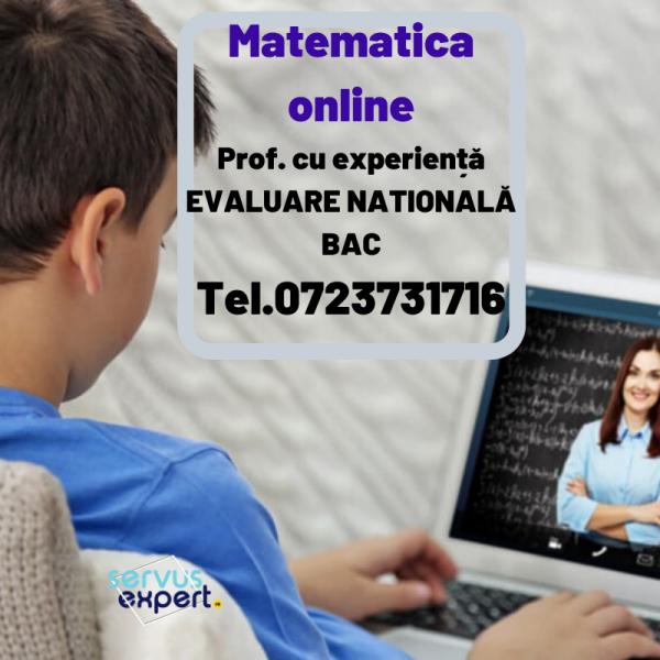 Matematica online: pregătire examene naționale