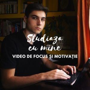 Study With Me (Studiază cu mine) #1 VIDEO