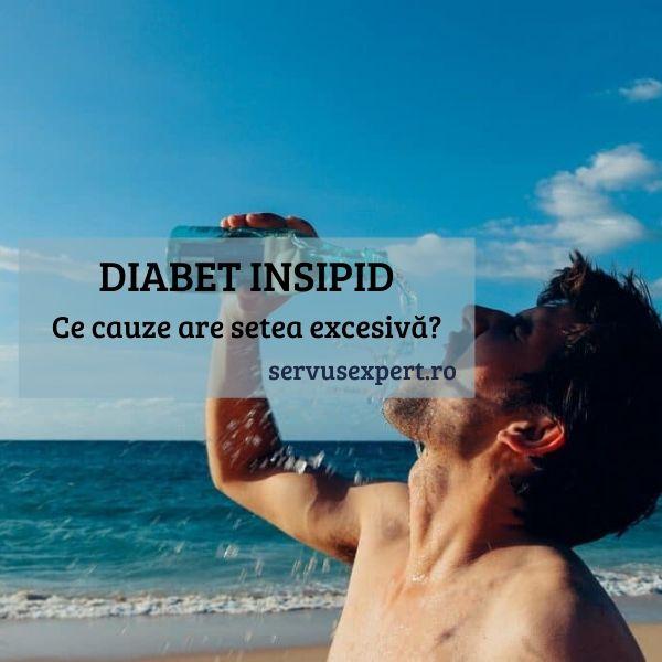 diabet insipid - senzație de sete excesivă