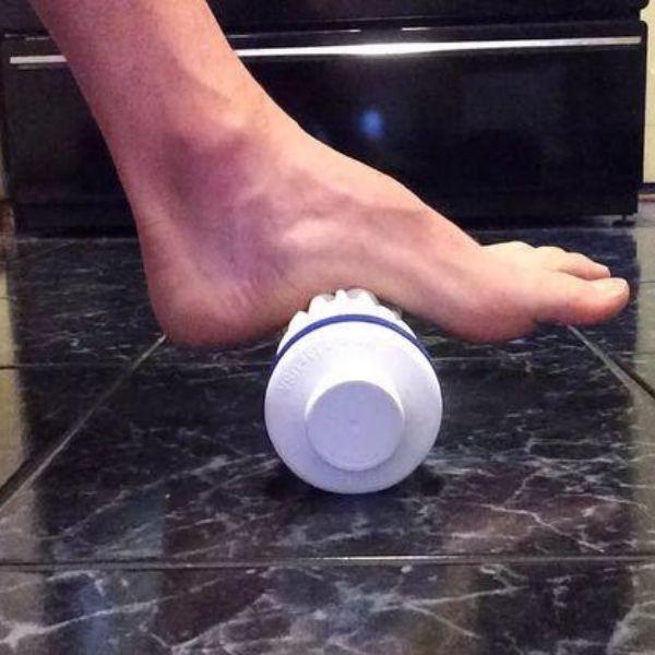 durere de picioare în fasciita plantară: masaj cu gheata