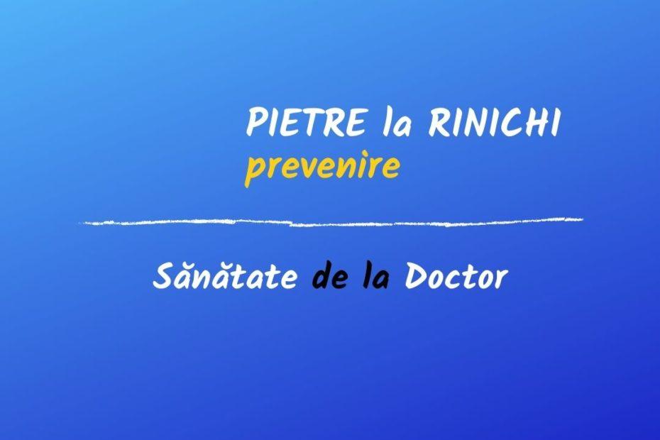 pietre la rinichi: prevenire
