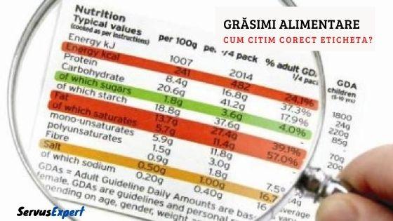 grasimi alimentare eticheta