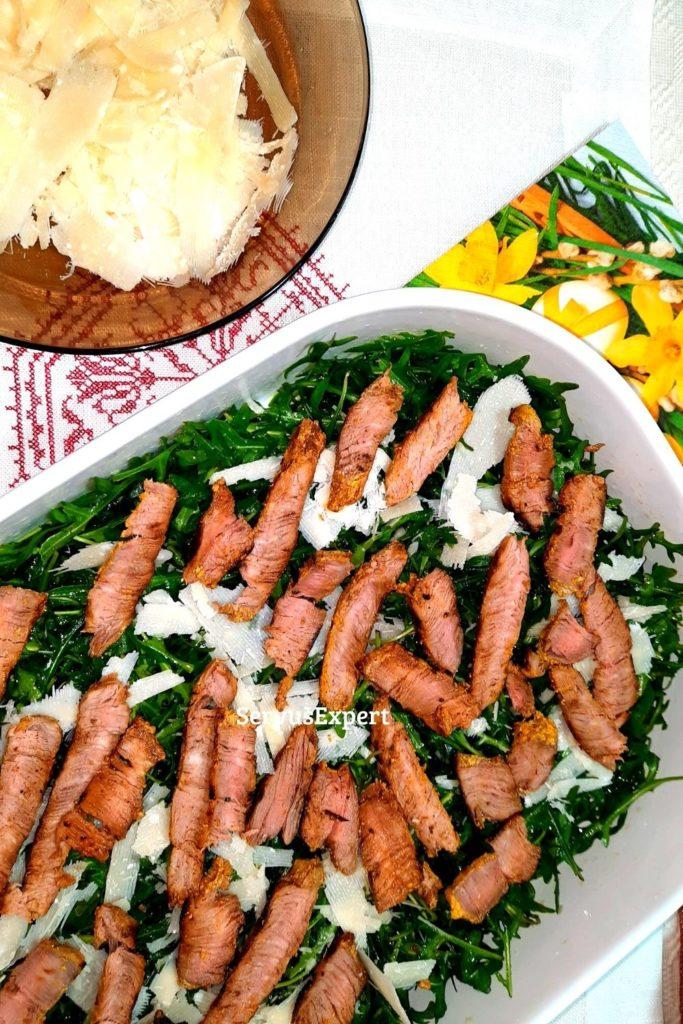 salata de rucola cu parmezan